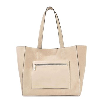 Calvin Klein Collection - East West - Shopping bag in pelle - crema