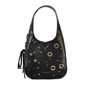 Alexander McQueen - The Cove - Hobo en cuir - noir