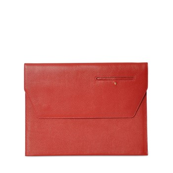 EDDIE - Dorset - Porte-documents en cuir - rouge