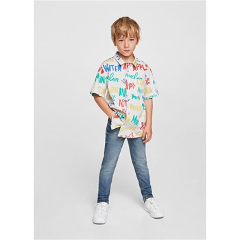 Mango Kids - Jean slim fit - denim bleu