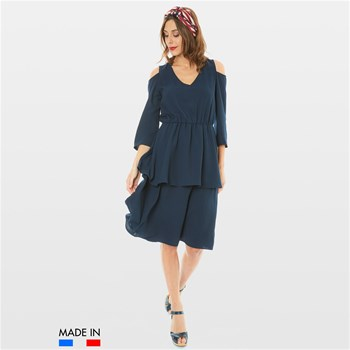 BrandAlley La Collection - Sissia - Robe fluide - bleu marine