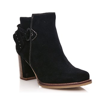 Tamaris - Rhea - Bottines en cuir - noir