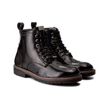 Pepe Jeans Footwear - Icon cow smooth - Bottines en cuir - noir