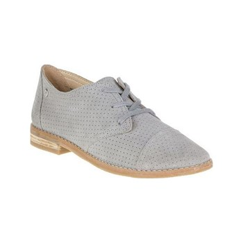 Hush Puppies - Aiden - Leren derbies - grijs