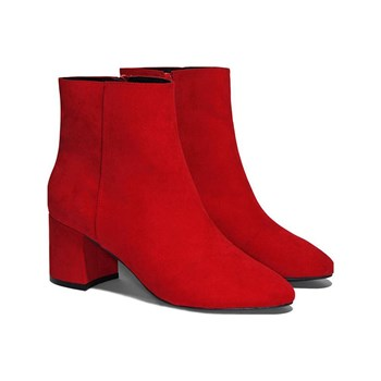 Tally Weijl - Bottines suédine - rouge