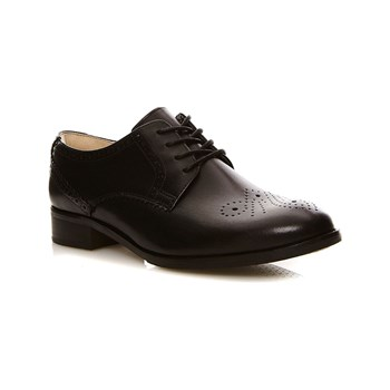 Clarks - Netley Rose Black Leather - Leren derbies - zwart