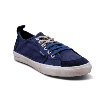 Peopleswalk - Peopleswalk FLY SUEDE POLYCANVAS - Baskets Mode - bleues marine