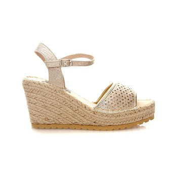 Refresh - SANDAL LADY TEXT. METALLIC GOLD . - Sandales - or