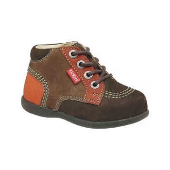Kickers - Babystan - Bottines en cuir - marron