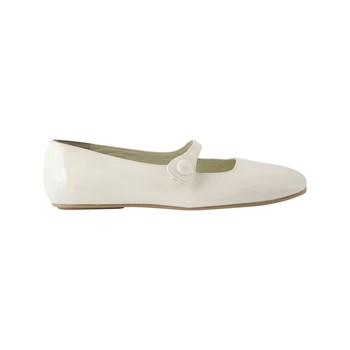 Exclusif Paris - Poppy - Ballerines en cuir - blanc