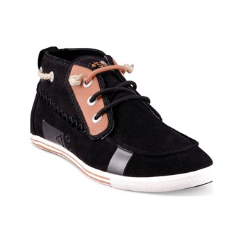 Peopleswalk - Tennis/Baskets/Sneakers Peopleswalk GENNAKER 0052M Noir Croute de Cuir Gomme - noir
