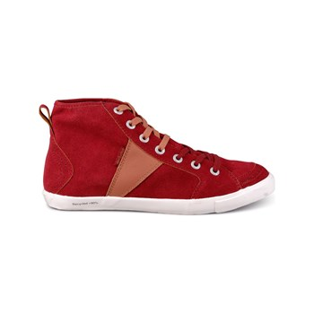 Peopleswalk - Tennis/Baskets/Sneakers Peopleswalk FOREST 0054M Carmin Croute de Cuir Gomme - carmin