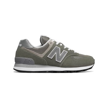 the best attitude 1bdb0 4c9fa New Balance WL574 - Baskets en cuir - gris