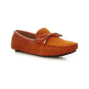 Uomo - Mocassins en cuir - orange