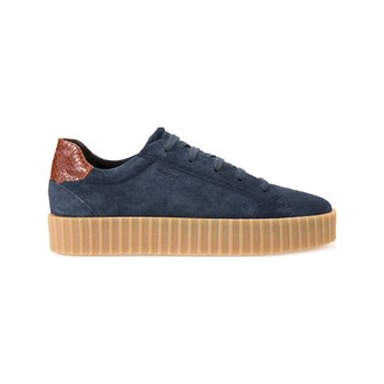 Geox - Hidence - Sneakers in pelle - blu scuro
