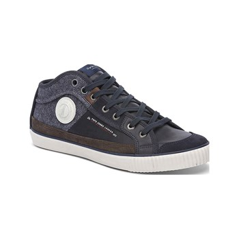 Pepe Jeans Footwear - Industry Half Mix - Baskets Mode - bleu brut