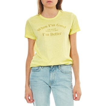 Only - T-shirt manches courtes - jaune