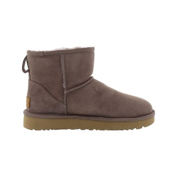 Ugg - Classic mini II - Bottines en cuir - gris
