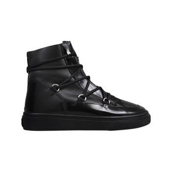 Hogan - High tops - Baskets en cuir - noir