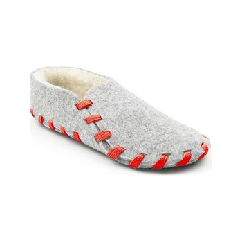 lasso shoes - Chaussons lainé adulte - gris clair