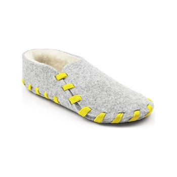 lasso shoes - Chaussons lainé adulte - jaune
