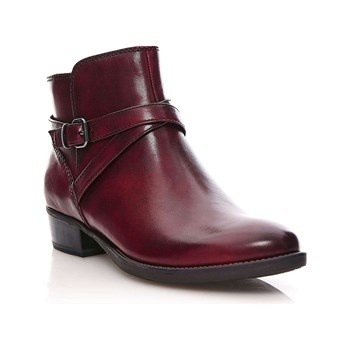 Tamaris - Marly - Bottines en cuir - bordeaux