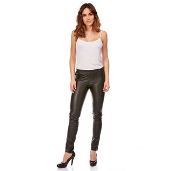DKS - Pantalon en cuir stretch - noir