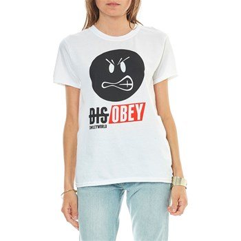 Smiley - Disobey - T-shirt manches courtes - blanc