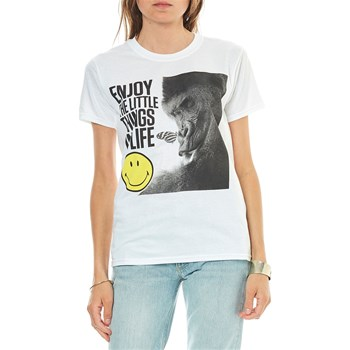 Smiley - Enjoy the little things in life - T-shirt manches courtes - blanc