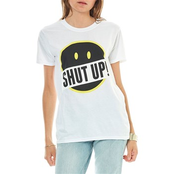 Smiley - Shut Up And Smile - T-shirt manches courtes - blanc