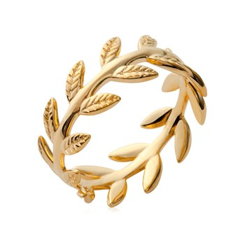 Girly Boudoir - Feuilles de Laurier - Ring - goldfarben