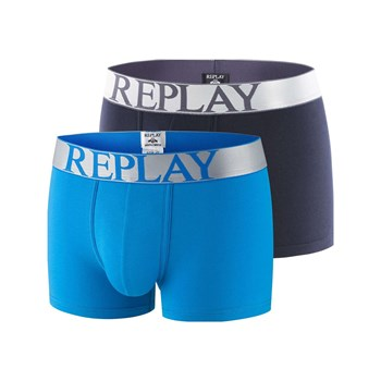 Replay - 2-er Set Boxershorts - blau
