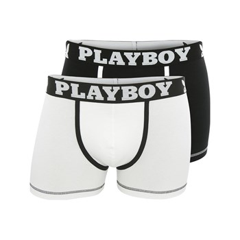 Playboy Homme - Classic cool - Lot de 2 boxers - blanc
