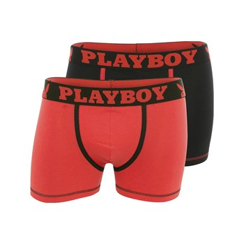 Playboy Homme - Classic cool - Lot de 2 boxers - rouge