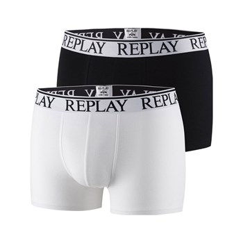 Replay - 2-er Pack Boxershorts - weiß