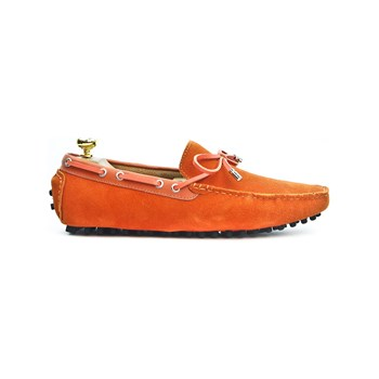 Riveleft - Mocassins en cuir - orange