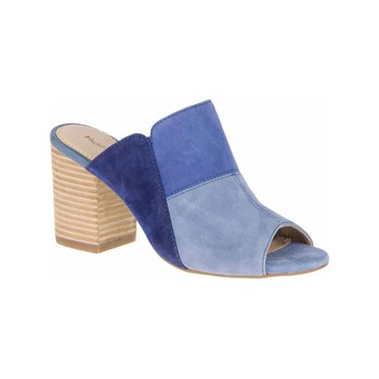 Hush Puppies - Sayer - Mules en cuir - bleu