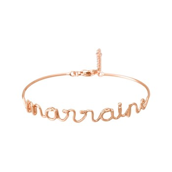 Dis moi - Marraine - Pulsera jonc - indian pink