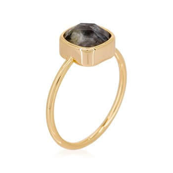 Colorstone - Ella - Ring - grau