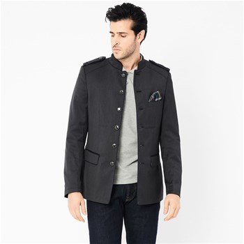 Harrington - Veste officier avec pochette - gris
