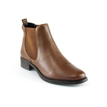 Manoukian - Bottines en cuir - cognac