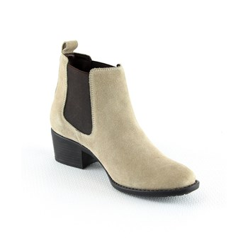 Manoukian - Bottines en cuir - beige