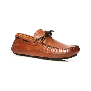 Geox - Mocassini in pelle - cognac
