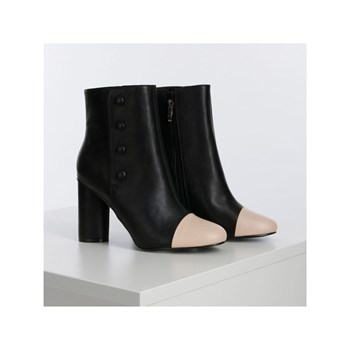 Morgan - Bottines bicolores - noir