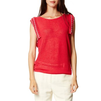 Kookai - Pull manches crochets - rouge