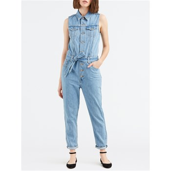 Levi's - Denim taper - Combi-pantalon - denim bleu