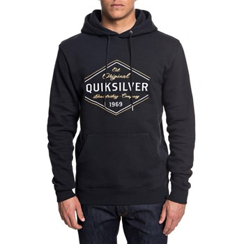 Quiksilver - No where north - Felpa con cappuccio - nero