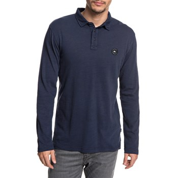 Quiksilver - Shev - Polo manches longues - marineblauw