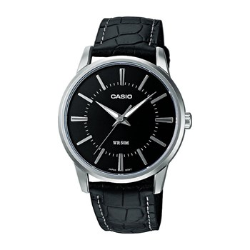 Casio - Collection - Montre en cuir - noir