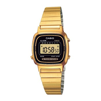 Casio - Retro Vintage - Reloj digital - dorado